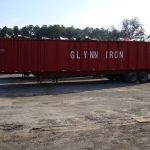 Glynn Iron recycling dumpster trailer for hauling scrap metal