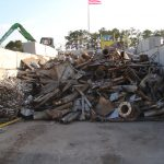 Pile of scrap metal at the junkyard