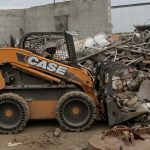 Picture of a junk yard bulldozer
