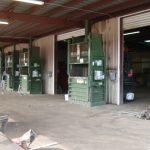 Warehouse for recycling scrap metal