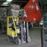 Image of scrap metal warehouse forklift